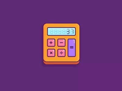 35款计算器ICON图标设计欣赏
