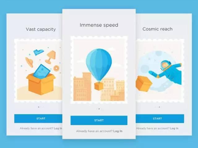 UI设计灵感:优秀的APP启动页