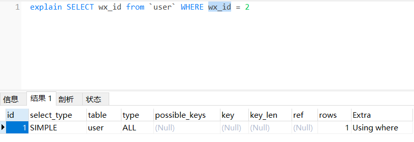 MySQL数据库 索引后检索语句不走索引的情况