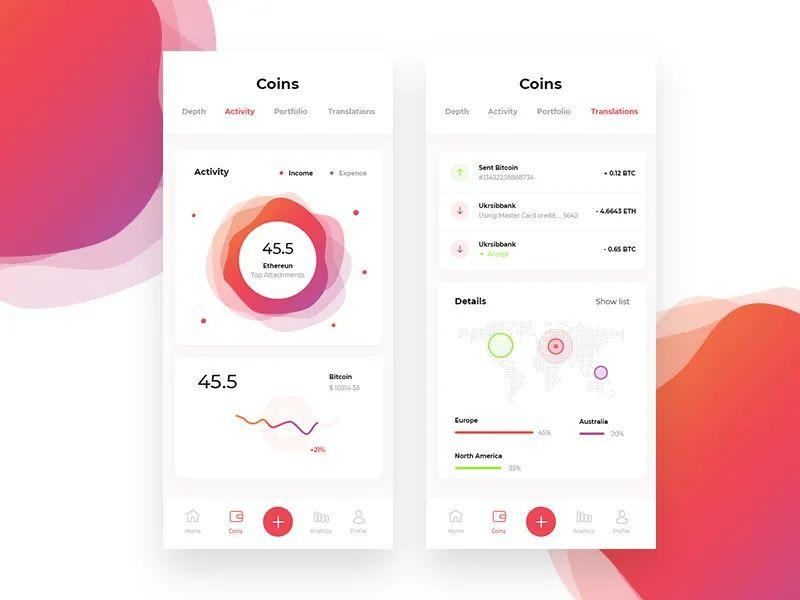 设计灵感:App 数据图表的 12 种展示方式