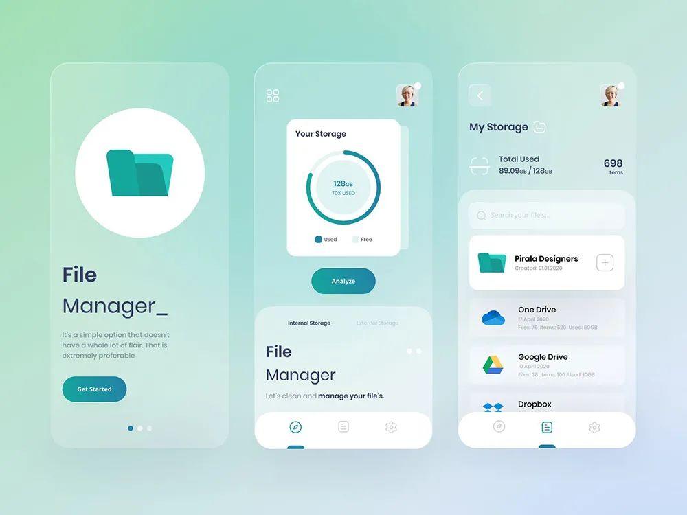 设计灵感:12 组文件管理 App 界面设计