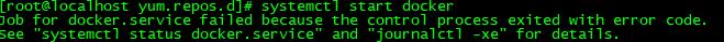 docker异常无法启动
